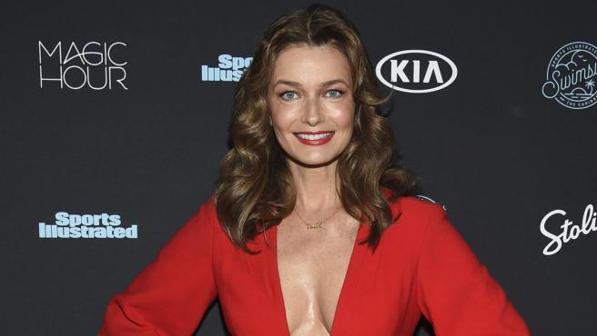 La modelo Paulina Porizkova en febrero de 2018.