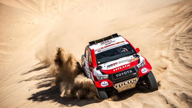 Fernando Alonso, durante el rally Dakar.