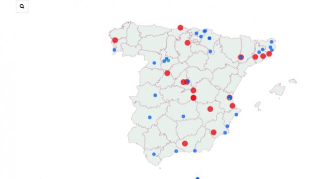 Los sitios donde han caído los primeros premios del sorteo del Niño 2020.