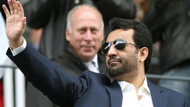 El jeque Abdullah Al Thani, presidente del Málaga CF.