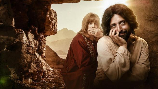 """Imagen promocional de la comedia 'La primera tentación de Cristo"""", del grupo de humor brasileño Porta dos Fundos."""