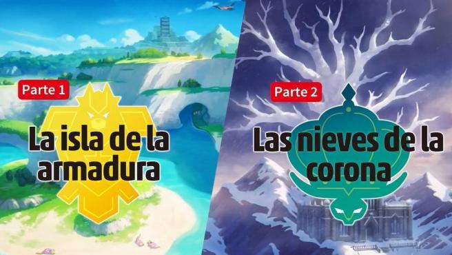 Las dos expansiones de 'Pokémon Espada y Escudo'.