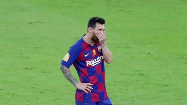 Messi no ocultó su decepción tras perder contra el Atlético.