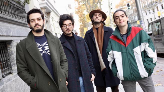La banda Morat, en las calles de Madrid.