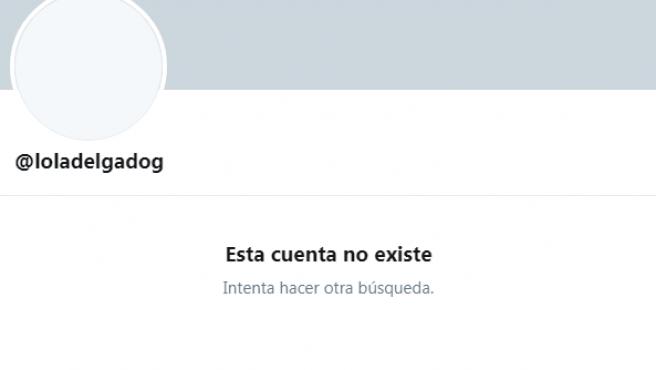 Captura de la cuenta de Twitter de Dolores Delgado, ya eliminada.
