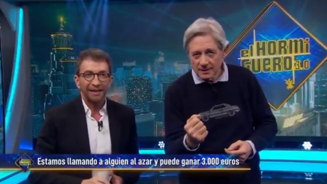 Pablo Motos y Josema Yuste, en 'El hormiguero'.