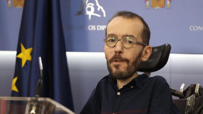 Pablo Echenique se ha estrenado este miércoles como portavoz del Unidas Podemos en el Congreso.