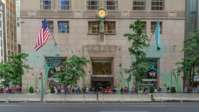 La tienda de la joyería Tiffany en la Quinta Avenida de Manhattan, en Nueva York.