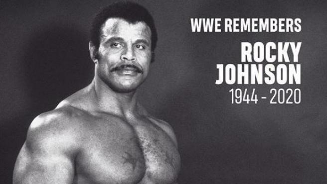Rocky Johnson, padre de Dwayne Johnson, en sus tiempos de luchador.