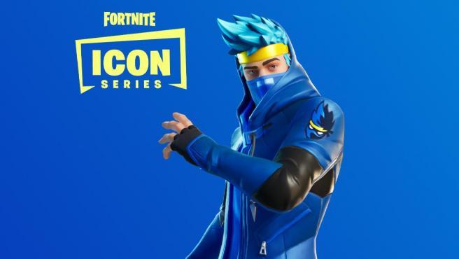 El 'skin' de Ninja para 'Fornite' respeta su loco pelo azul.