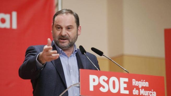 José Luis Ábalos, secretario de Organización del PSOE, en Murcia.
