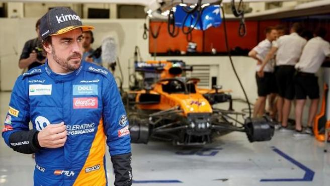 Fernando Alonso, con el equipo McLaren.