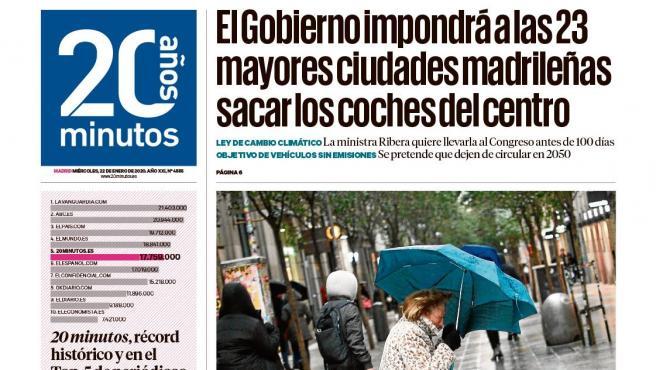 Portada Madrid 22 de enero