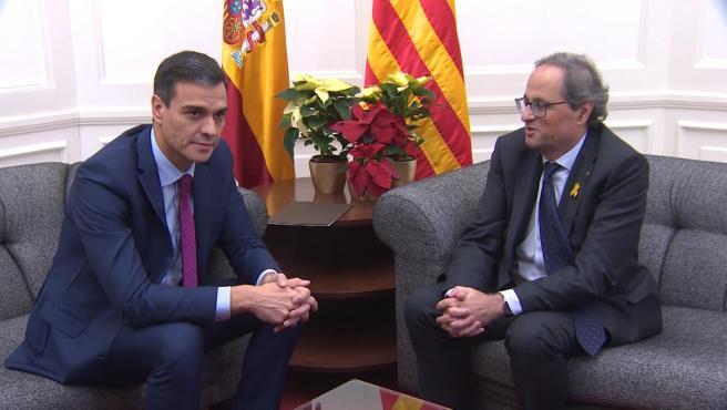 Sánchez quiere ver a Torra en Barcelona la primera semana de febrero