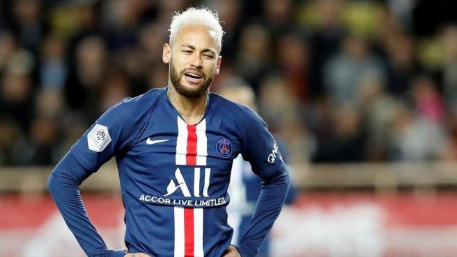 Neymar, en un partido del PSG