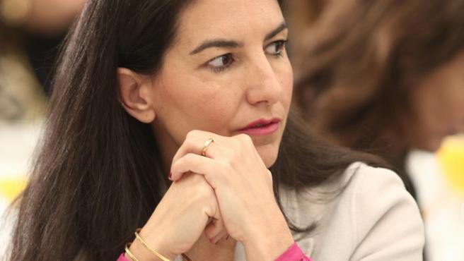 La presidenta de Vox Madrid, Rocio Monasterio, durante un desayuno informativo de Europa Press