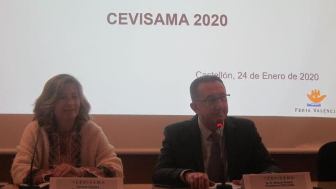 Manuel Rubert i Carmen Álvarez en la presentació de Cevisama