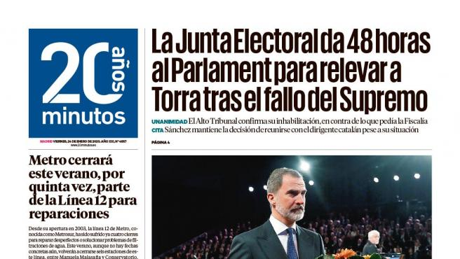 Portada Madrid 24 de enero.