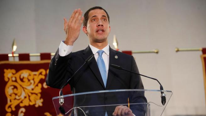 Juan Guaidó, presidente de la Asamblea venezolana, en Madrid.