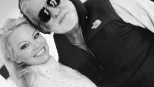 Pamela Anderson, con su marido.