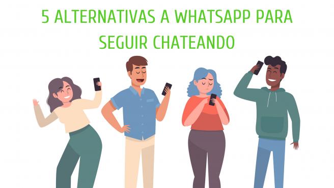 Telegram, Line, Hangouts, Facebook Messenger y WeChat son algunas alternativas.