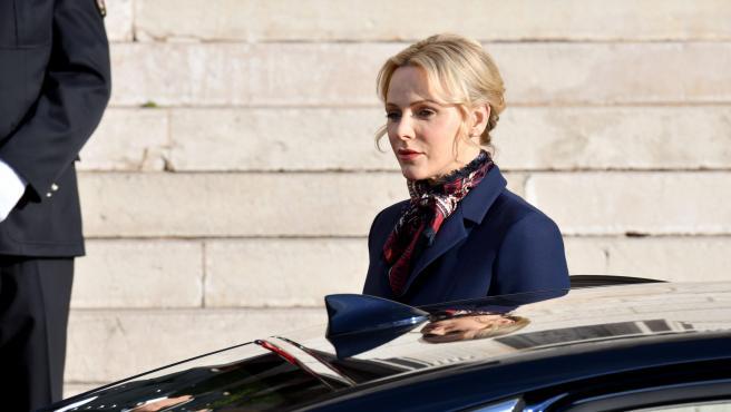 La princesa Charlène de Mónaco, en enero de 2020.