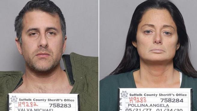 Los padres del niño, Michael Valva y Angela Pollina.