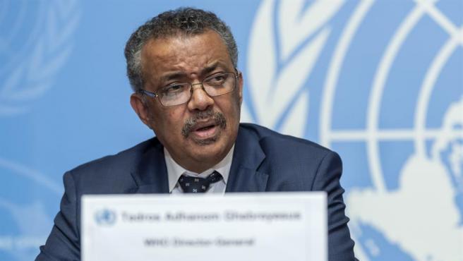 El director general de la Organización Mundial de la Salud, Tedros Adhanom Ghebreyesus, en Ginebra, Suiza.