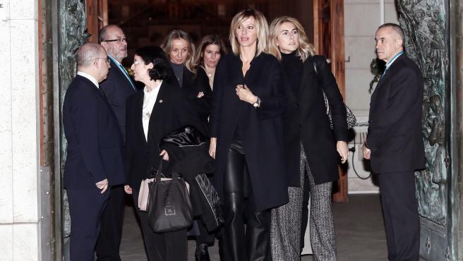 Susanna Griso a su salida de la misa funeral de la infanta Pilar.