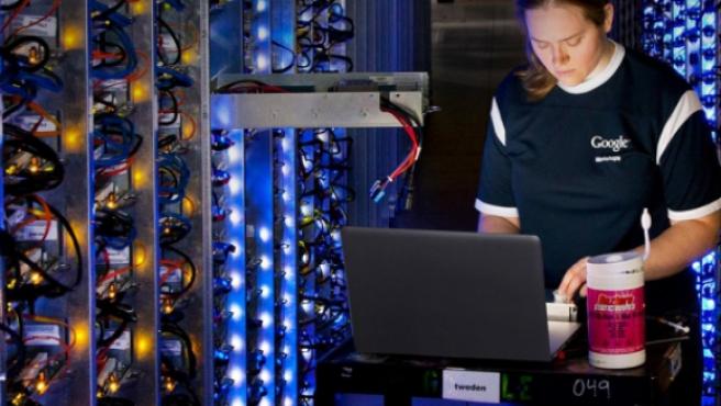 Una trabajadora de Google en una imagen de archivo.