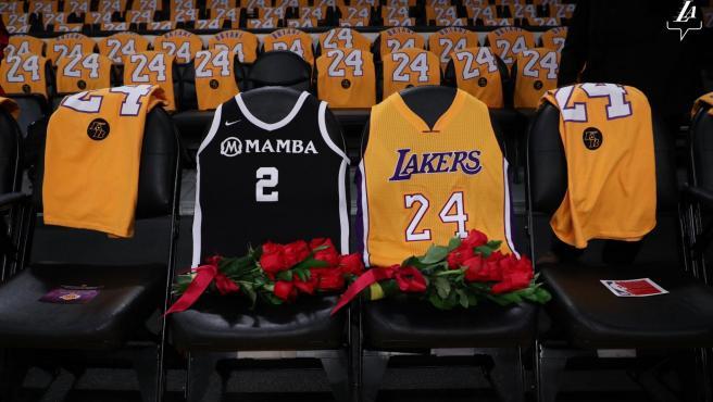 Los asientos donde Gianna y Kobe veían a los Lakers