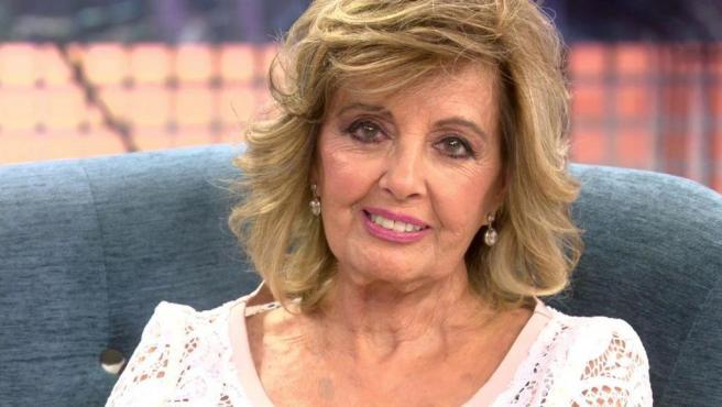 María Teresa Campos, durante su entrevista en 'Sábado Deluxe'.