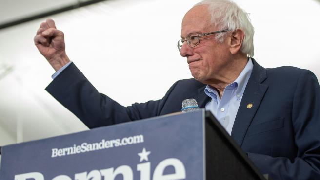 Bernie Sanders durante su campaña como candidato del Partido Demócrata a la presidencia de EE UU.
