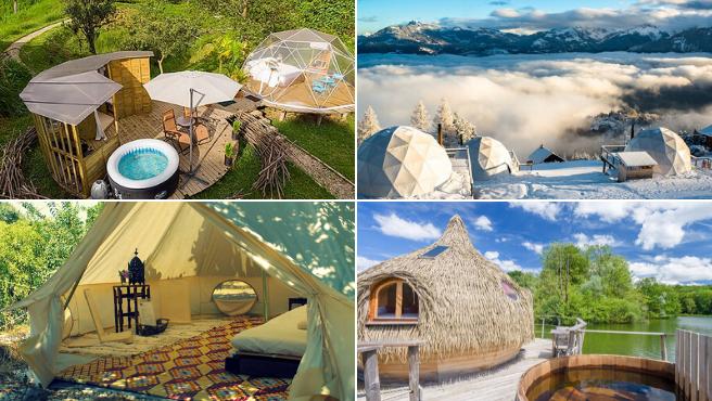 Alojamientos de acampada a precios de hotel 5 estrellas