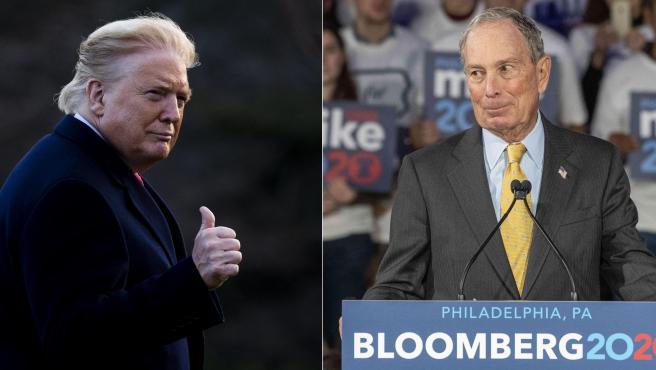 Donald Trump y Mike Bloomberg en dos imágenes de archivo.