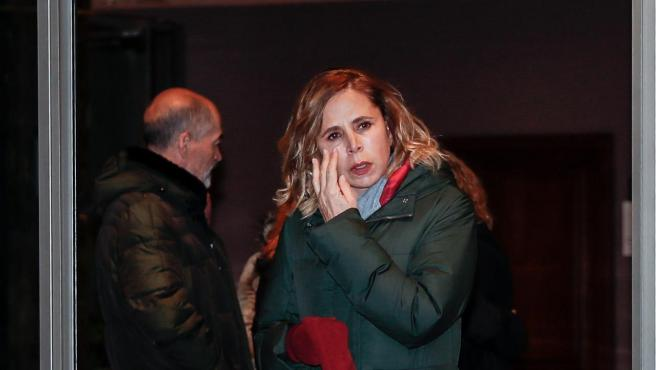 Agatha Ruiz de la Prada, durante el funeral de Cristina Elena de Borbón.