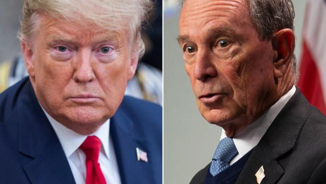 Donald Trump y Michael Bloomberg.