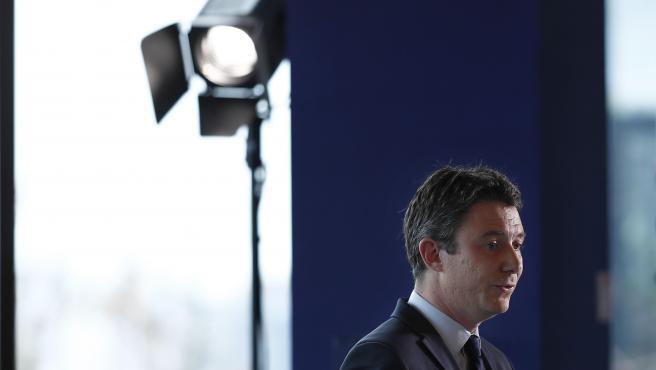 """El candidato """"macronista"""" a las elecciones municipales de París, Benjamin Griveaux."""