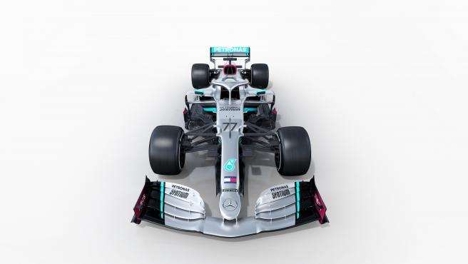 El Mercedes W11 de Lewis Hamilton y V