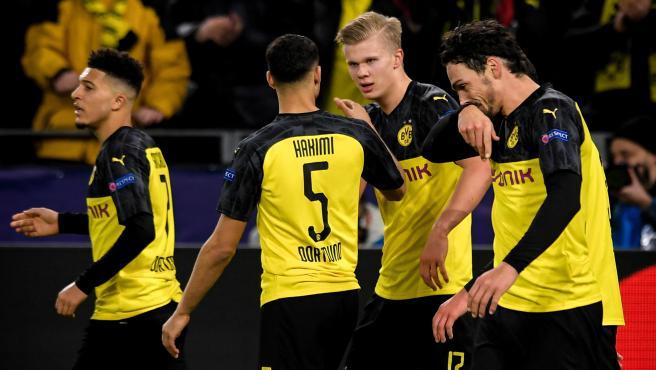 El Borussia celebra un gol