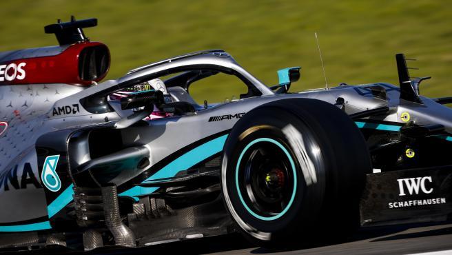 Lewis Hamilton, durante los test de pretemporada de Fórmula 1.