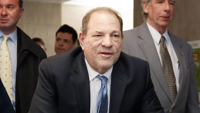 Harvey Weinstein a su llegada a la Corte de Nueva York el día de la deliberación del juez.
