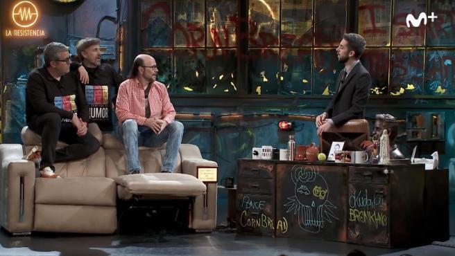 Florentino Férnandez, Jose Mota y Santiago Segura en 'La resistencia'