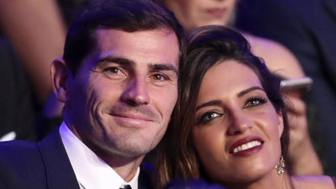 Iker Casillas y Sara Carbonero, en 2017.