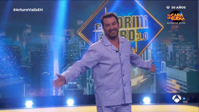 Arturo Valls, en pijama en 'El hormiguero'.