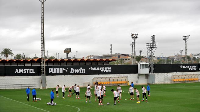 Entrenamiento del Valencia.