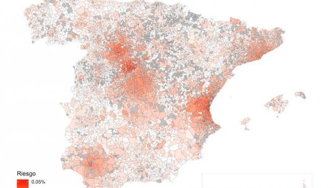 Imagen del modelo predictivo del Covid-19 en España.