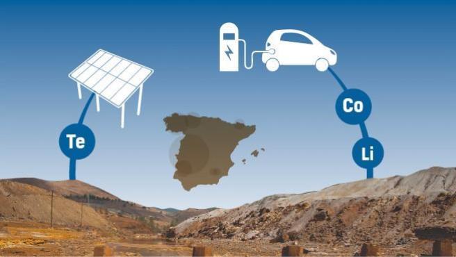 España es rica en minerales muy demandados en la fabricación de baterías eléctricas.