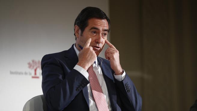 El presidente de la CEOE, Antonio Garamendi, interviene en la Jornada de la CEOE sobre 'Formación de calidad para un empleo de calidad' celebrada en el Casino de Madrid.