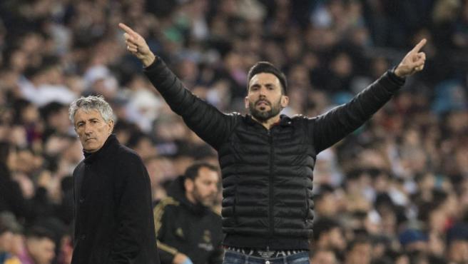 Eder Sarabia, en el partido del Barça contra el Madrid en el Bernabéu.